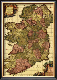 Ireland - Panoramic Map Art