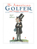 The American Golfer June 2, 1923 Stretched Canvas Print by James Montgomery Flagg