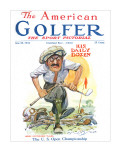 The American Golfer June 28, 1924 Stretched Canvas Print by James Montgomery Flagg