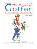 The American Golfer October 4, 1924 Stretched Canvas Print by James Montgomery Flagg