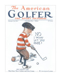 The American Golfer February 24, 1923 Stretched Canvas Print by James Montgomery Flagg