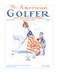 The American Golfer July 12, 1924 Stretched Canvas Print by James Montgomery Flagg