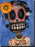 Frida Muerta Stretched Canvas Print by Abril Andrade