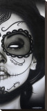 Sophia La Muerta Stretched Canvas Print by Daniel Esparza
