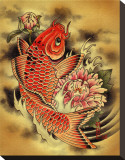 Carp Stretched Canvas Print by Aaron Cox