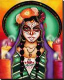 Ilumina Mi Camino Stretched Canvas Print by Cat Ashworth