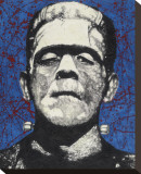 Frankenstein Stretched Canvas Print by  Byron