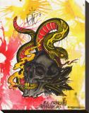 Mariachi Skull Stretched Canvas Print by Brad Mariachi