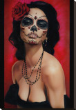 Isabella Muerta Stretched Canvas Print by Daniel Esparza