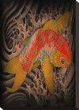 Koi Stretched Canvas Print by Clark North