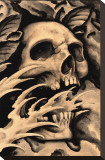 Screaming Skull Stretched Canvas Print by Clark North