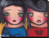 BFF Stretched Canvas Print by Abril Andrade