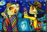Noche de los Muertos Stretched Canvas Print by Dave Sanchez