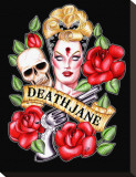 Death Jane Stretched Canvas Print by Hilary Jane