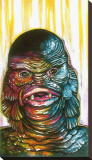 Fish Lips Stretched Canvas Print by Trevor Bonkers
