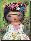 Muerto's Fest Stretched Canvas Print by Abril Andrade