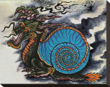 Dragon Snail Stretched Canvas Print by Salvador Preciado