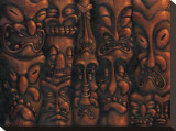 Wall of Tiki I Stretched Canvas Print by Dwight Francis