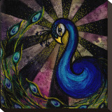 Brittany&#39;s Peacock Stretched Canvas Print by Brittany Morgan