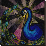 Brittany's Peacock Stretched Canvas Print by Brittany Morgan