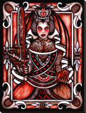 Queen of Hearts Stretched Canvas Print by Leighderhosen