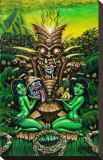 Zombie Tiki Stretched Canvas Print by  Big Toe