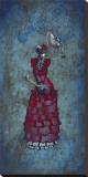 Flamenco Peligroso Stretched Canvas Print by David Lozeau