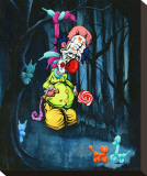 Clown Cold Case Stretched Canvas Print by David Lozeau