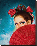 Senorita Stretched Canvas Print by Manuel Valenzuela