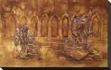 Judgement of Mary Stretched Canvas Print by David Lozeau