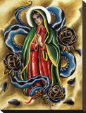 La Virgen Stretched Canvas Print by Salvador Preciado