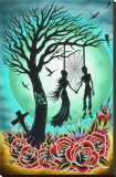 Love til Death Stretched Canvas Print by Tyler Bredeweg