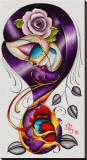 Violet Stretched Canvas Print by Dave Sanchez