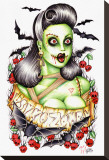 Psycho Zombie Stretched Canvas Print by Hilary Jane