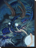 Blue Dragon Leinwand von Mike Godfrey