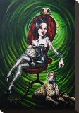 Mistress of Cheetah Stretched Canvas Print by Gabi Spree