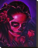 Day of Dead Mary Stretched Canvas Print by Manuel Valenzuela