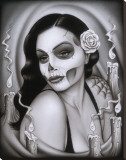 Day of the Dead Aria Stretched Canvas Print by  Spider (Artist)