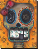 Lady Muerte Stretched Canvas Print by Abril Andrade