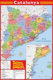 Barcelona Map Affiches