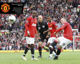 Manchester United-Rooney Goal Foto