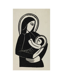 Madonna and Child Giclee Print by Eric Gill
