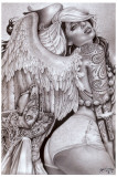 Angel Girl Print by Mouse Lopez