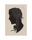 Engraving of a girl's head Giclee Print by Eric Gill
