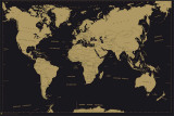 World Map Metal Poster