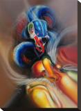 Tingu Mask Stretched Canvas Print by Tomas Archuletta