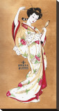 Traditional Geisha Stretched Canvas Print by Sus Alonso