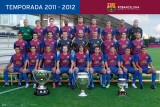 F.C. Barcelona-Team 2011-2012 Poster