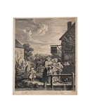 Evening Giclee Print by William Hogarth