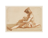 Boy with a dog Giclee Print by Paul Sandby